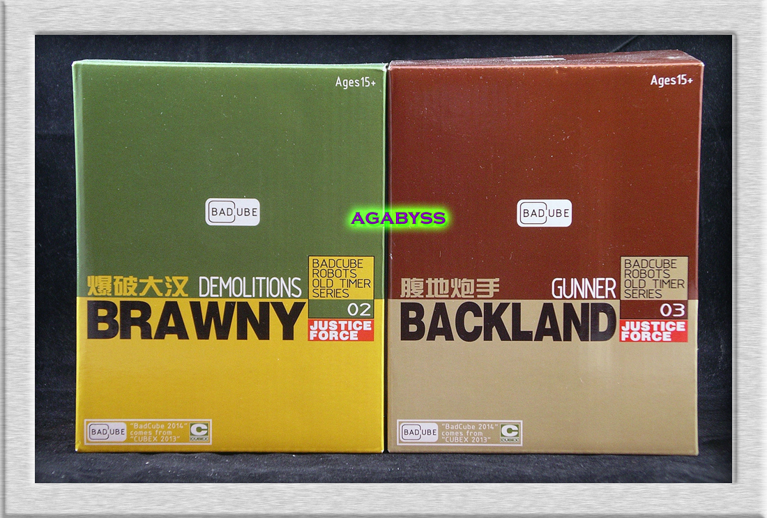 Badcube OTS-02 & OTS-03 Brawny & Backland 2 Pack with bonus Quint Journal