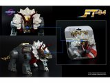 Fans Toys FT-04 Scoria Clear Smoked Dino Head