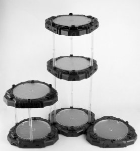 Innovative Toys Black Rotating Display Base with white LEDs