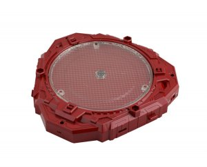 Innovative Toys Red Rotating Display Base with multi-color LEDs